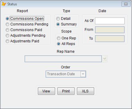 Rep Commissions - Status