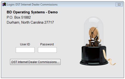 BDOS DST IDC login form.