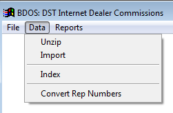 DST IDC Import Menu