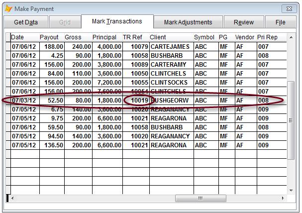 BDOS Mark Transactions