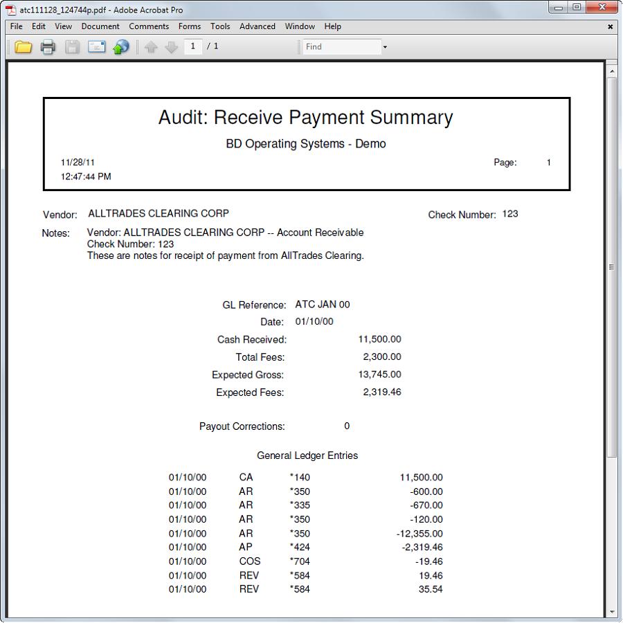 Audit Trail - Summary