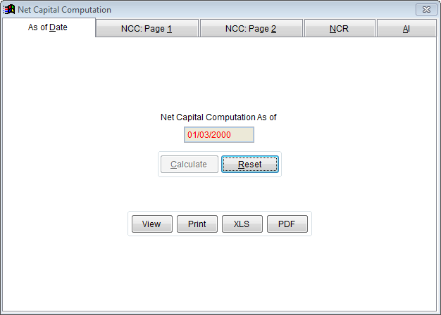 Net Capital Computation Form